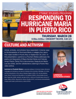 Responding to Hurricane Maria in Puerto Rico: Culture and Activism